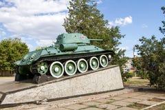 对T-34的纪念碑 库存照片