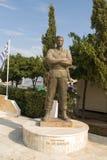对Tasos Markou,帕拉利姆尼的,2018年6月12日塞浦路斯民族主义的希族塞人的纪念碑 免版税库存照片
