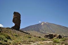 对Teide的火山,上帝的手指 库存图片