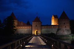 对trakai的桥梁城堡 免版税库存照片