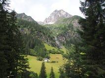 对tribulaun山的看法,南蒂罗尔,意大利,欧洲 免版税库存图片