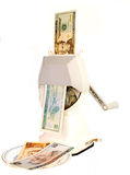 对u元的转换美元s 免版税库存照片