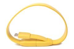 对USB的电缆接头微型USB 免版税库存图片