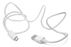 对USB的电缆接头微型USB 免版税库存照片