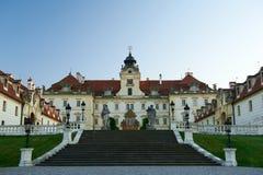 对Valtice城堡的大门 免版税库存图片