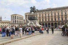 对Victor伊曼纽尔II国王的纪念碑 免版税库存照片