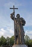 对Volodymyr的纪念碑伟大在莫斯科,俄罗斯 库存照片