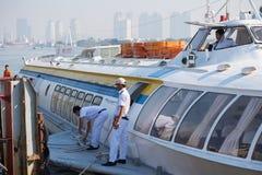 对Vungtau的水翼艇西贡 免版税库存照片