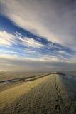 对waddensea的范围脚步 库存照片