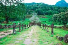 对Wat Phu的走道 库存照片