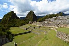 对Wayna Picchu的方式 Machu Picchu 秘鲁 免版税图库摄影