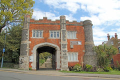 对Whitstable城堡的入口 库存照片