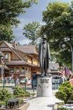 对Wladyslaw Zamoyski,扎科帕内的纪念碑 免版税库存照片