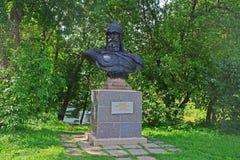 对Yury Dolgorukiy的纪念碑在Dormition Goritsky修道院里在Pereslavl-Zalessky,俄罗斯 免版税库存图片
