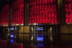 对Zarkana剧院的入口唱腔的在拉斯维加斯, 8月0日的NV 免版税库存照片