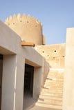 对Zubarah堡垒,卡塔尔北塔的台阶  免版税库存图片