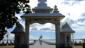 寺庙入口在贾夫纳0f斯里兰卡 免版税库存照片