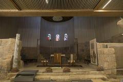 寺庙内部方济会修士在登上天空的,先知摩西涉嫌的死亡地方和地方从上帝 免版税库存图片