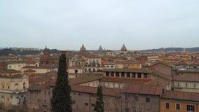 寺庙和五颜六色的屋顶圆顶在罗马,意大利 股票录像