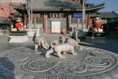 寺庙和吉利动物 免版税库存照片