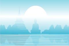 寺庙和塔美好的风景的 库存图片