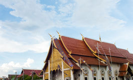 寺庙和蓝天 库存图片