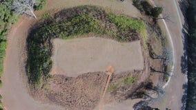 寺庙土墩鸟瞰图在复杂Kolomoki的土墩的 免版税库存照片