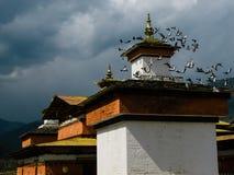 寺庙在不丹 库存图片