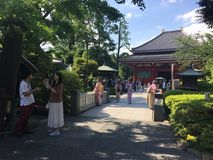 寺庙在东京日本 免版税库存图片