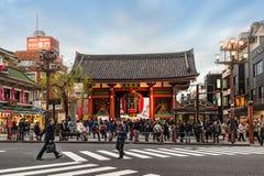 寺庙在东京,日本为仅社论使用 库存照片