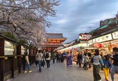 寺庙在东京,日本为仅社论使用 免版税库存图片