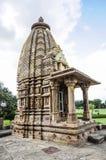 寺庙在克久拉霍在印度 免版税库存图片
