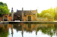寺庙在农村越南 库存照片
