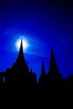 寺庙在夜间 免版税库存照片