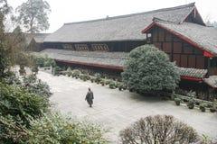 寺庙在峨眉山,中国 免版税图库摄影
