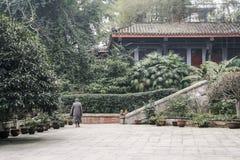 寺庙在峨眉山,中国 库存照片