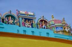 寺庙在市印度的瓦腊纳西 库存图片