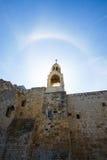 寺庙在日出的以色列 库存照片