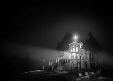 寺庙在晚上 免版税库存图片