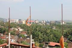 寺庙在果阿,印度 库存照片