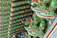 寺庙在济州海岛 免版税库存图片