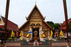 寺庙在清莱 免版税库存图片