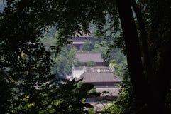 寺庙在灵隐风景区 免版税库存图片