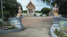 寺庙在酸值苏梅岛的Wat Khunaram在泰国股票英尺长度录影 股票视频