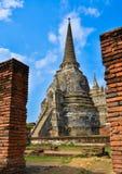 寺庙在Ayutthaya 免版税库存照片