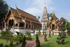 寺庙在Chiang Mai泰国 库存照片