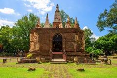 寺庙在Chiang Mai,泰国 免版税库存图片