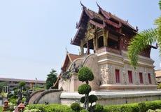 寺庙在Chiang Mai 免版税库存照片