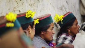 寺庙在Kalpa村庄 影视素材