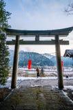 寺庙在Kayabuki没有佐藤在Miyama 免版税库存图片